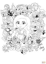 doodle art coloring pages eson me