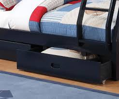Coaster Furniture  Twin Over Full Navy Blue Bunk Bed Full - Navy bunk beds