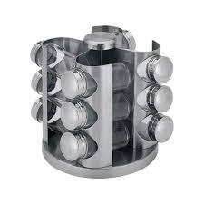 portaspezie girevole porta spezie 12 contenitori con base girevole in acciaio inox