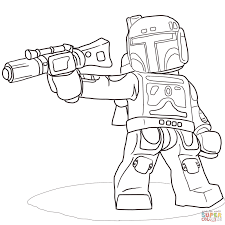 lego star wars boba fett coloring free printable coloring pages