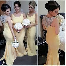 Summer Garden Dresses - 2015 charming long bridesmaid dresses yellow chiffon women dress