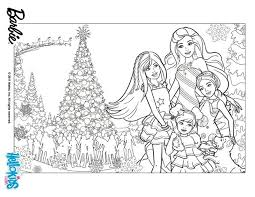 barbie u0027s christmas coloring pages hellokids