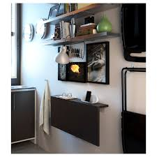 ikea bjursta wall mounted drop leaf table brown black cm becomes a practical shelf for small things when folded down