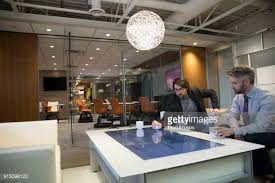 Interactive Meeting Table Interactive Table Stock Photos And Pictures Getty Images