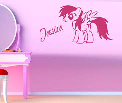decoration room girls promotion shop for promotional decoration zn c169 personalised little pony vinyl wall sticker kids room decor wall art poster girls room decor