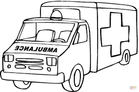 ambulance emergency car coloring page free printable coloring pages
