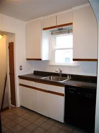 Paint Laminate Kitchen Cabinets by White Laminate Kitchen Cabinets With Oak Trim View More Kitchens