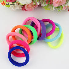 hair rubber bands 10pcs lot candy fluorescence colored hair holders high quality