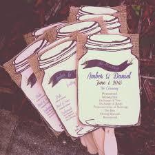 burlap wedding programs jar wedding program burlap wedding programs fans 75 fan