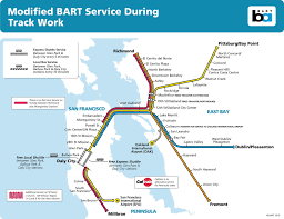 Dublin Bart Map Bart Modifies Weekend Service To Perform Needed Track Work Through