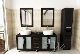 Chrome Bathroom Vanity by Decoration Ideas Cozy Black Walnut Wood Bath Vanity Cabinet Also