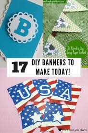 diy pennant banners for parties and home decor p s i love you