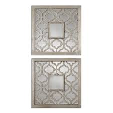 Wall Mirror Sets Decorative Uttermost Sorbolo Squares Decorative Mirror Set Of 2 Free