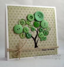 button tree tree men dous good idea for dads birthday card