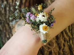 wrist corsages wrist corsage dried flowers simple and dainty for