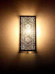 Moroccan Wall Sconce Moroccan Rectangular Shaped Silver Wall Sconce From Badia Design Inc