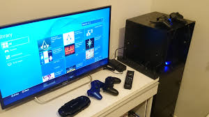 what tv monitor do you use with your console playstation nation