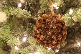 mini pine cone ornament and a giveaway uncommon designs