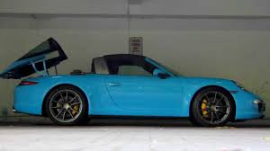porsche maritime blue porsche 911 991 targa 4s roof operation youtube