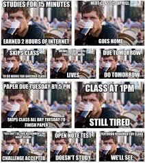 College Test Meme - one woman catastrophe