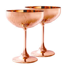 cocktail glass set copper cocktail coupe gift set elyx boutique