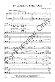 ballade to the moon satb by daniel elder j w pepper sheet music