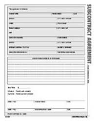 subcontract agreement form atlas construction business forms