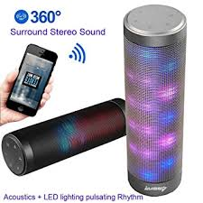 light up portable speaker amazon com upgraded portable bluetooth light speakers luoov hi