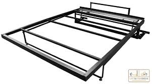 Closet Bed Frame Murphy Bed Frame Within Size Plan 5 Intended For Diy