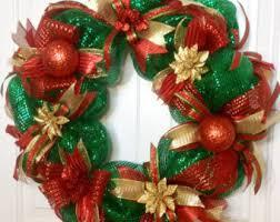 deco mesh wreath etsy