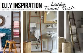 ladders make awesome towel racks