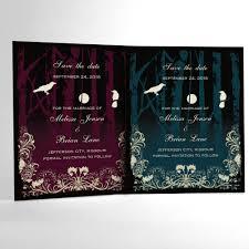 halloween wedding invitation halloween wedding save the date cards elegant gothic wedding