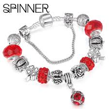 diy silver bracelet images Beautiful european spinner style vintage silver plated crystal jpg