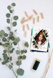 diy eucalyptus garland christmas card display julep