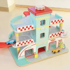 raceway toy garage