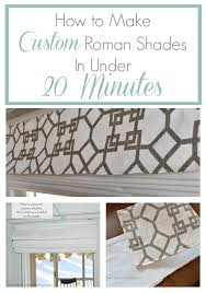 How To Make Material Blinds How To Make A Roman Blind In Under 20 Minutes