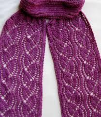 knit scarf pattern dayflower lace turtleneck scarf knitting