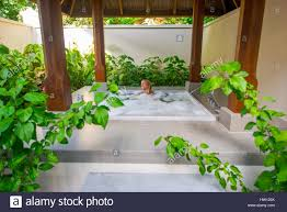 maldives rangali island conrad hilton resort bathroom at the