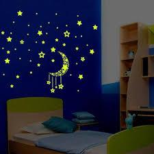 popular moon wallpaper buy cheap moon wallpaper lots from china a set kids bedroom fluorescent glow in the dark stars wall stickers luminous luminous stickers moon