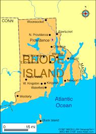 map rhode island map of rhode island usa
