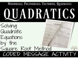 solve quadratic equations by square root method coded message activity by docrunning teaching resources tes