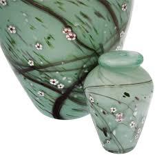 small keepsake urns blossom blown glass keepsake urn for ashes