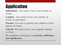 know your identity u0027in christ u0027 review you were created to be