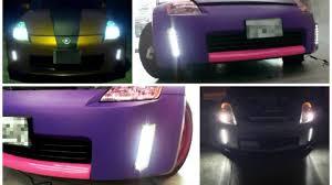 nissan 350z xenon headlight assembly 2006 2009 nissan 350z led front bumper reflector daytime running