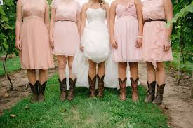 short pink bridesmaid dresses with brown cowboy boots elite