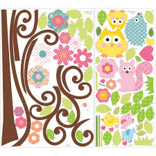 roommates peel u0026 stick wall decals mega pack scroll tree