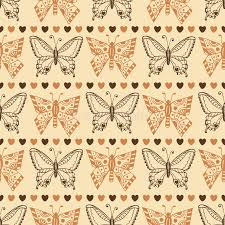 zentangle butterfly pattern autumn seamless wrapping paper