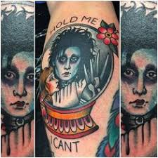 edward scissorhands tattoo by momori tattoo film character