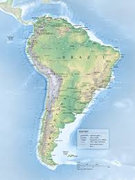South America Map With Capitals by South America Map An Illustrative Overview Map Merritt