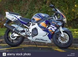 honda 900 fire blade honda motorcycle 900 rr color white purple gray stock